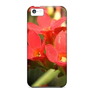 Durable Defender Case For Iphone 5c Tpu Cover(honey Red Flowers)