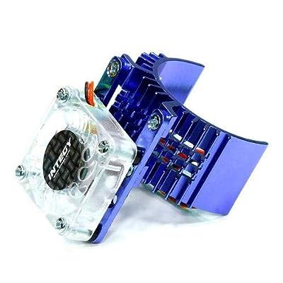 Integy RC Model Hop-ups T8074BLUE Motor Heatsink 540 Size w/Cooling Fan for Slash Stampede 2WD Rustler 2WD Bandit: Toys & Games
