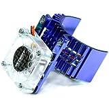 Intensificador de calor para motor Integy RC modelo Hop-ups T8074BLUE 540 tamanho com ventilador de refrigeração para Slash S