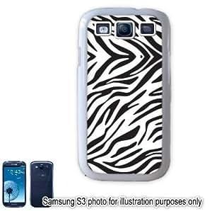 White Zebra Animal Print Pattern Samsung Galaxy S3 i9300 Case Cover Skin White