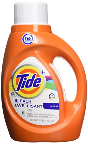 Tide Plus Bleach Alternative Safe on Colors HE Turbo Clean Liquid Laundry Detergent, Original Scent, 1.36 L (29 Loads) - Bleach Liquid Laundry Detergent