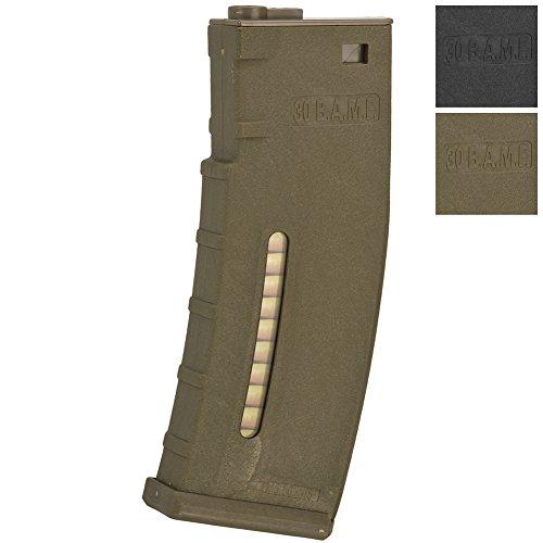 - Evike BAMF 190 Rounds Polymer Mid-Cap Magazine For M4 M16 Series Airsoft AEG Rifles - Tan - (48426)