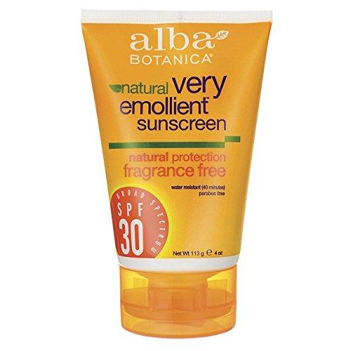 Alba Botanica - Very Emollient Natural Protection Sunblock Fragrance Free 30 SPF - 4 fl. oz.