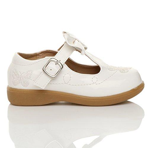 Mädchen Kleine Absatz T-Riemen Schmetterling Elegant Fesch Schuhe Größe 12 o2U6kDFbhP