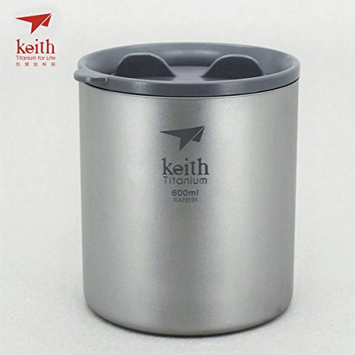 Keith Titanium Double-Wall Mug with Lid - 20.3 fl oz