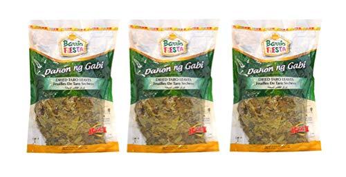 Barrio Fiesta Dahon ng Gabi - Dried Taro Leaves 100g, 3 Pack