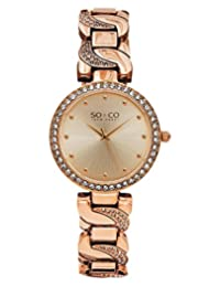 SO & CO New York  Women's 5062.3 SoHo Analog Display Quartz Rose Gold Watch