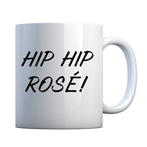 Mug Hip Hip Rose! 11oz Pearl White Gift Mug - Fraternity Sorority Pearls