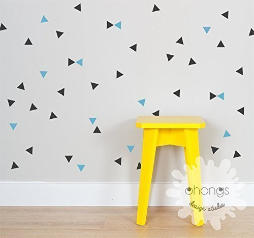 Triangle Wall Decal / 2 Color Triangle / Mini Triangle Sticker / Modern  Wall Decal /