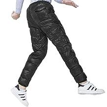 Men's Packable Down Puffer Pants Winter Warm Lightweight Snow Trousers