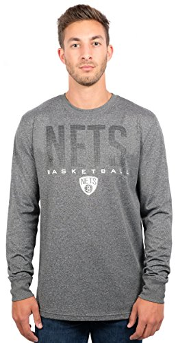 - Brooklyn Nets Men's T-Shirt Athletic Quick Dry Long Sleeve Tee Shirt, Medium, Charcoal