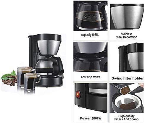 Coffee Makers 0,65L Electric infuus koffiezetapparaat Huishoudelijke Koffiezetapparaat 6 Beker Koffie- 220V Espresso Machines HAIKE
