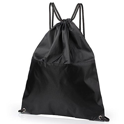 Drawstring Backpack, KISSUN Waterproof Backpack Folding Bags, Gymbag Sackpack for Shopping Sport Yoga for Men Women