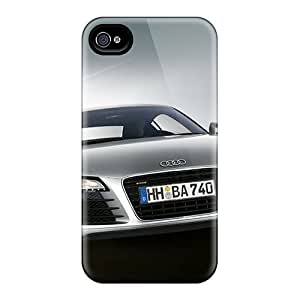 Iphone 4/4s PMv19560yMLm Provide Private Custom Fashion Audi R8 Pattern Best Hard Cell-phone Cases -TimeaJoyce