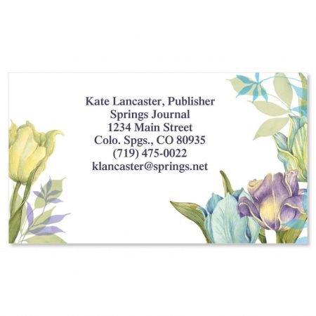 Tulip Frame Business Cards - Set of 250 2'' x 3-1/2 custom business card design; 80# Cover Stock, Opaque, Matte