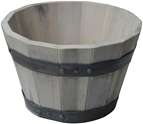 Happy Planter HP304 Small Wood Barrel Outdoor Planter, for sale  Delivered anywhere in Canada