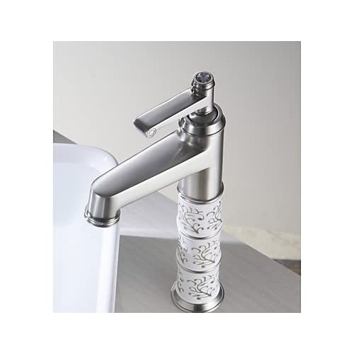 outlet W&P Contemporary basin thermostatic mixer and porous nickel drawing the leading ceramic valve core , 48 x 8 cm