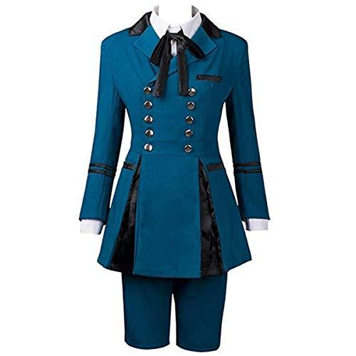 Poetic Walk Black Butler 2 Ciel Phantomhive Best Outfits Cosplay Costume School Uniform Custom (Medium, Mens-Blue)]()