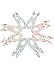 Travel Hangers Folding Hangers with 16 Clips Portable Clothes Hangers, Non-Slip, Lightweight for Home and Travel, 8 PCS