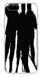 Beautiful Type White Pc For SamSung Galaxy S5 Phone Case Cover - Interesting Skiing - Black