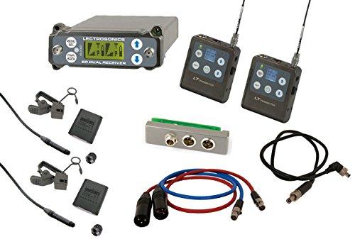 Lectrosonics SRC-A1 Bundle With (2) LT-A1 Transmitters, (2) Sanken COS-11d Lavaliers, Lectrosonics SREXT Adapter, TAI Audio SR-BDS Cable & (2) TA3F - XLRM Cables