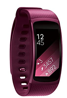 Samsung Gear Fit2 SmartWatch (Small), Pink (Renewed)