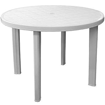 Table en plastique Table terrasse Blanc Table de balcon table de ...