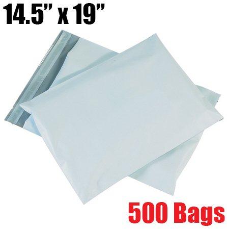 iMBAPrice 500 - 14.5x19 Premium Matte Finish White Poly Mailers Envelopes Bags (iMBA-6PM-500)