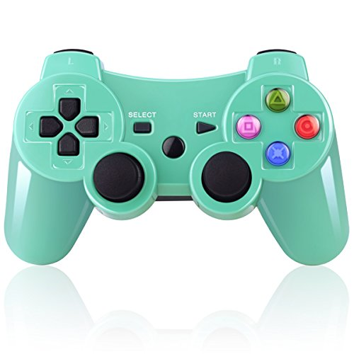 double-vibrating-wireless-controller-for-ps3-with-charge-cable-bright-green-