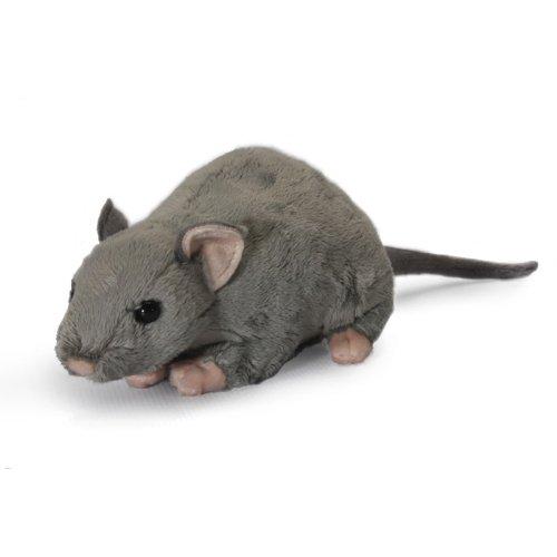 Living Nature Soft Toy - Plush Rat with Squeak Noise (30cm)