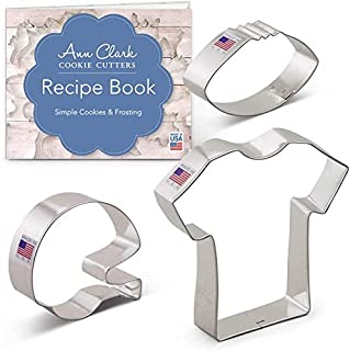 product image for Ann Clark Cookie Cutters 3-Piece Football Cookie Cutter Set with Recipe Booklet, Football, Football Helmet, and T-Shirt