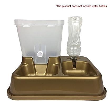 Alimentador automático de mascotas Perros Gatos Alimentos Cuenco PP Plástico Alimentos no tóxicos Dispensador de agua
