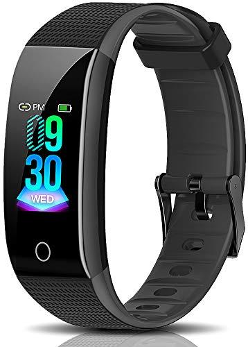 PT Fitness Tracker, Activity Tracker Watch IP68 Waterproof Color Screen Smart Watch Pedometer Calorie CounterBlood Pressure Monitor Sleep Trackerfor Men Women