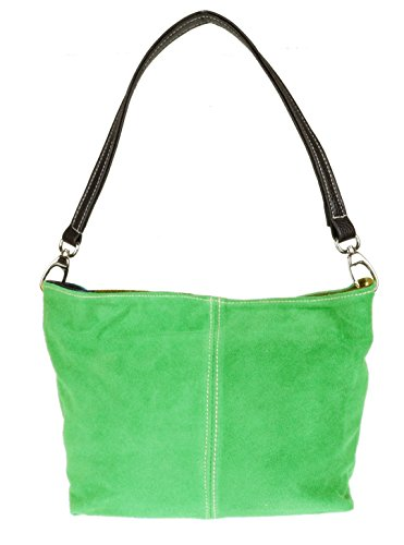 Leather Light Genuine Shoulder HandBags New Bag Handbag Green Tote Suede Girly wIngqz4x