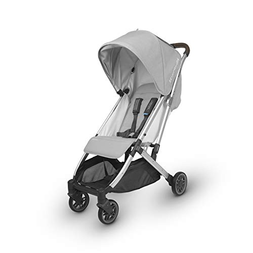 (UPPAbaby MINU Stroller - Devin (Light Grey/Silver/Chestnut Leather))