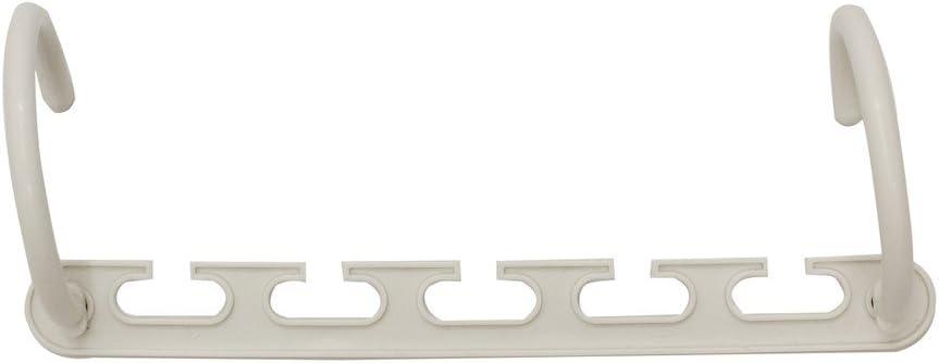 ABS Kunststoff 37/x 2/x 7/cm 4/St/ück wei/ß JVL Offene Schlaufe Magic Wonder platzsparende Kleiderb/ügel