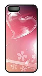 iCustomonline Love Pink Love Heart Case for iPhone 5 5S PC Material Black by ruishername