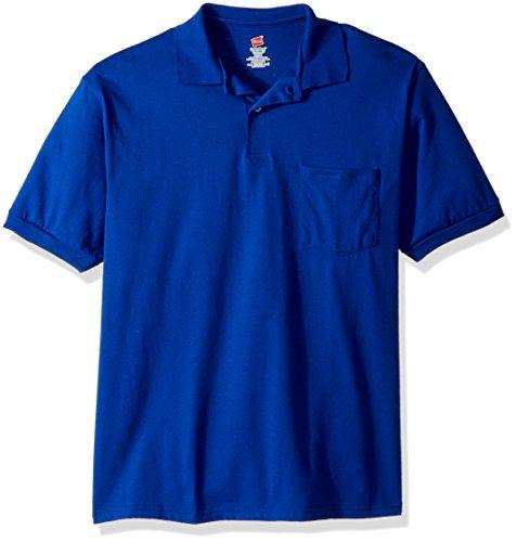 Hanes Men's Comfortblend Ecosmart Jersey Pocket Polo – DiZiSports Store