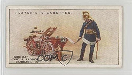 Motor Side-Car Hose and Ladder Carriage, 1910 Ungraded COMC Good to VG-EX (Trading Card) 1930 Player's Fire-Fighting Appliances - Tobacco [Base] #35