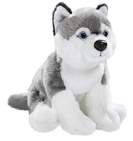 Amazon Com Carl Dick Husky Sitting 8 Inches 20cm Plush Toy Soft