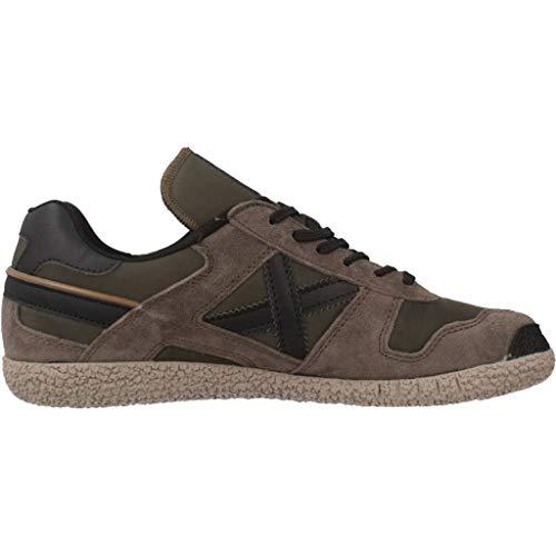 Unisex Scarpe Munich Kaki Goal Sneaker Nero U19mu10 camoscio grigio Khaki Tessuto 8wTgHwqa
