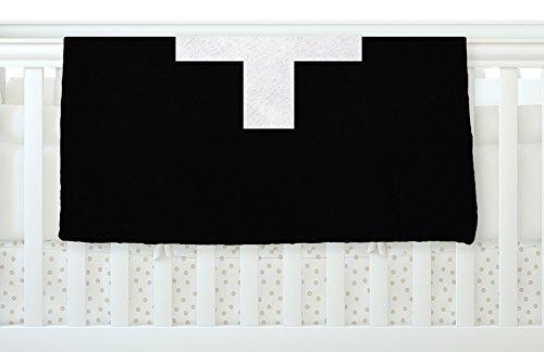 KESS InHouse Trebam Plus Simple Black Fleece Baby Blanket 40 x 30 [並行輸入品]   B0785Q5JKF