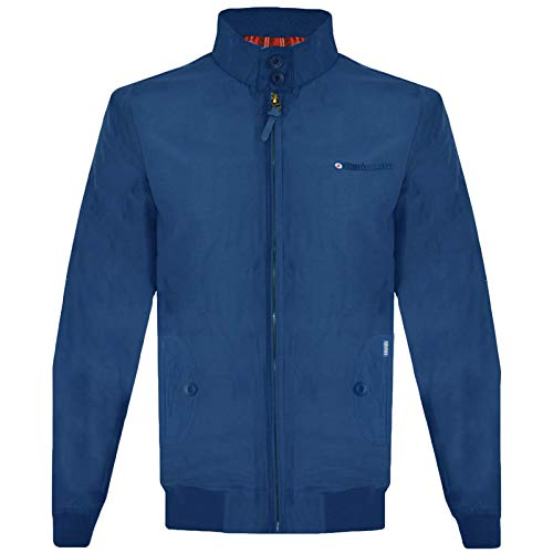 Lambretta Mens Target Shower Resistant Harrington Jacket Coat - Royal - XL