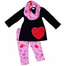 Unique Baby Girls Valentine's Day Love Letters Outfit Set