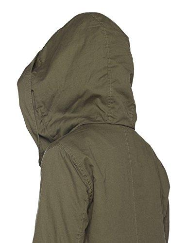 Look Mujer Parka Lined para Khaki Verde Dark Blackthorn New 46dF1q4