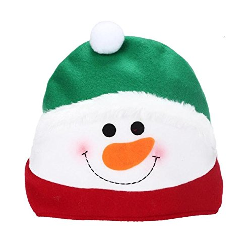 [Warm Winter Christmas Snowman Hat Cozy Soft Santa Headgear Warmer Photography Kids Costume Cap Top] (Turban And Beard Costume)