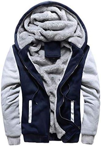 メンズジップアップフリースパーカー冬のヘビー級の暖かいカーディガンジャケットスウェットシャツ (Color : C, Size : XXL)