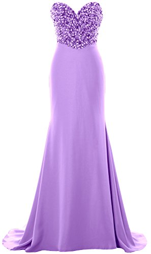 MACloth Women Strapless Long Prom Dress Crystals Formal Party ...
