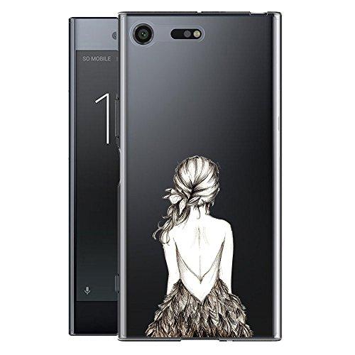 Sony Xperia XZ Premium Funda , IJIA Ultrafino Transparente Expresión Fría (DONT TOUCH MY PHONE) TPU Silicona Suave Cover Tapa Caso Parachoques Carcasa Cubierta para Sony Xperia XZ Premium WM3
