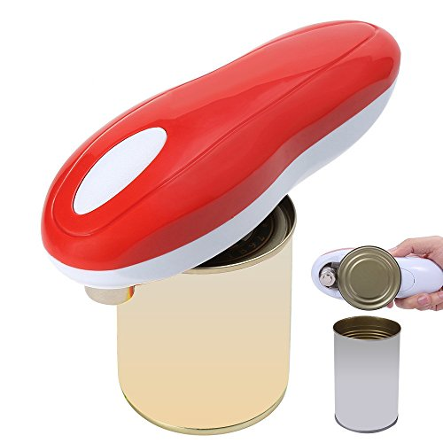 Electric Can Opener, REYO Restaurant Can Opener, Smooth Edge Automatic Electric Can Opener! Best Kitchen Gadgets for Arthritis and Seniors (RED)
